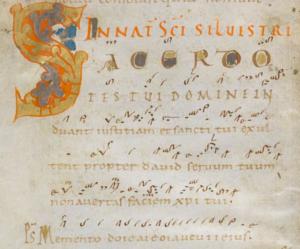 Beginn des Introitus, Handschrift Einsiedeln 121